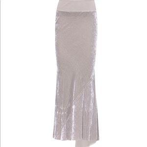 Rick Owens bias cut velvet asymmetrical skirt